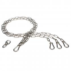 85 cm Kettensatz Edelstahl für Grillrost Aufhängung Grillkette Dreibein Kette